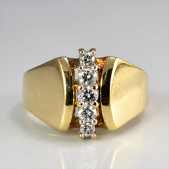 Five Stone Diamond Wide Ring | 0.25 ctw, SZ 5 |