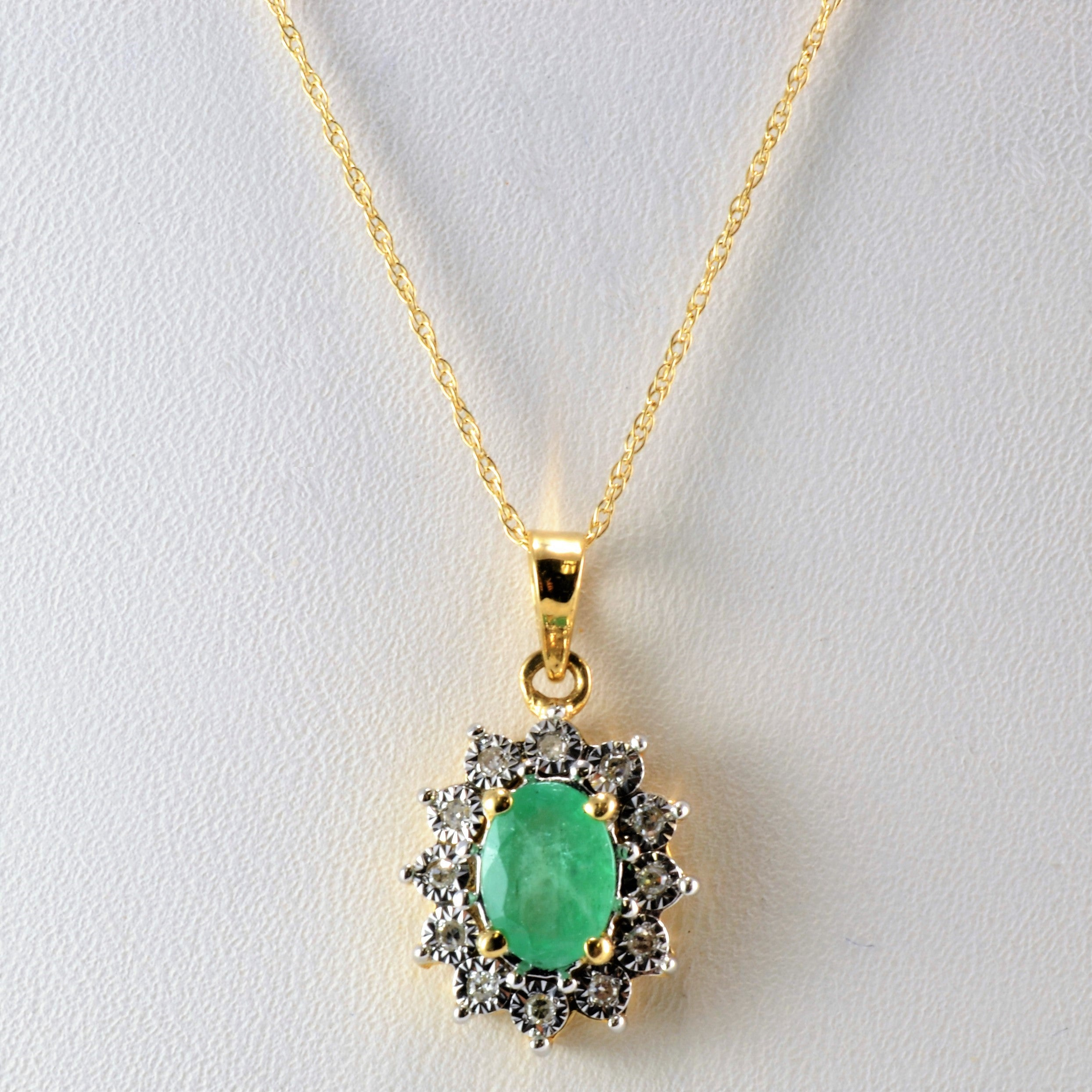 created zm emerald en mv zoom with lab diamonds hover sterling silver to necklace kaystore kay