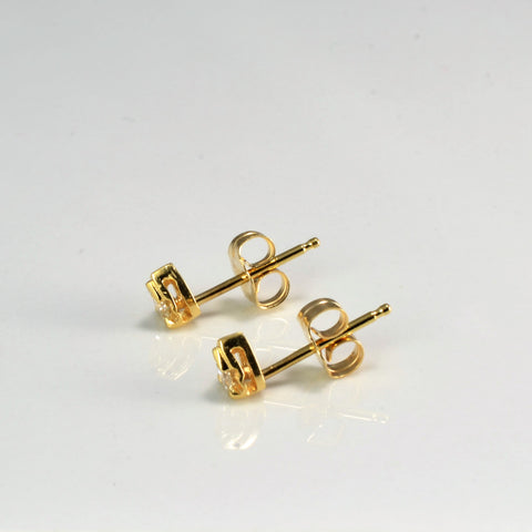 Diamond Drop Shape Stud Earrings | 0.14 ctw |