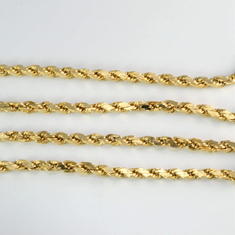 14K Gold Rope Chain Necklace | 20''|