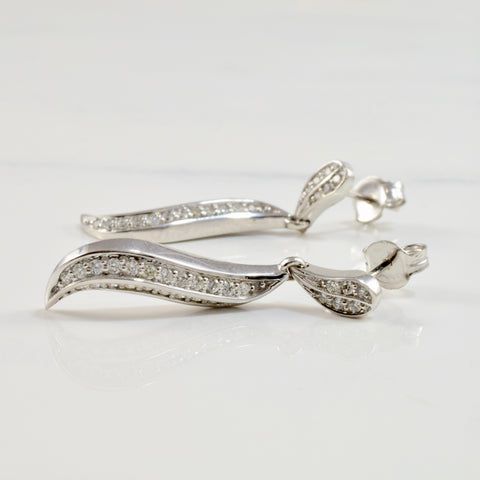 Diamond Cluster Drop Earrings | 0.28 ctw |