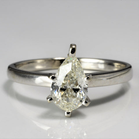 Solitaire Pear Diamond Engagement Ring | 1.00 ct, SZ 7 |