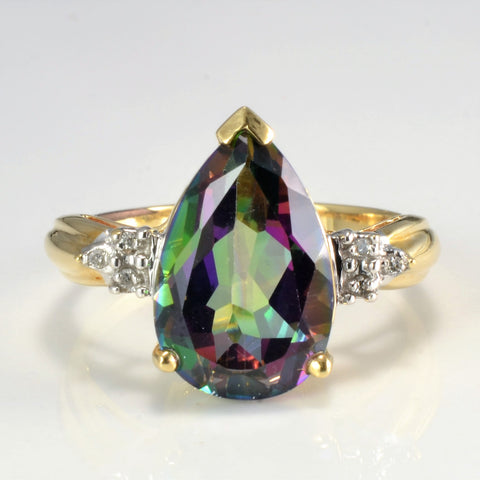 Mystic Topaz & Diamond Ring | 0.03 ctw, SZ 10 |