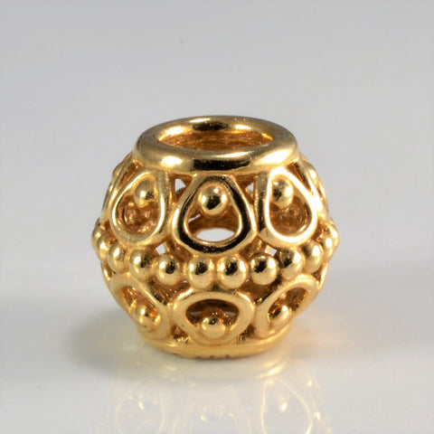 14K Gold Pandora Fancy Filigree Charm