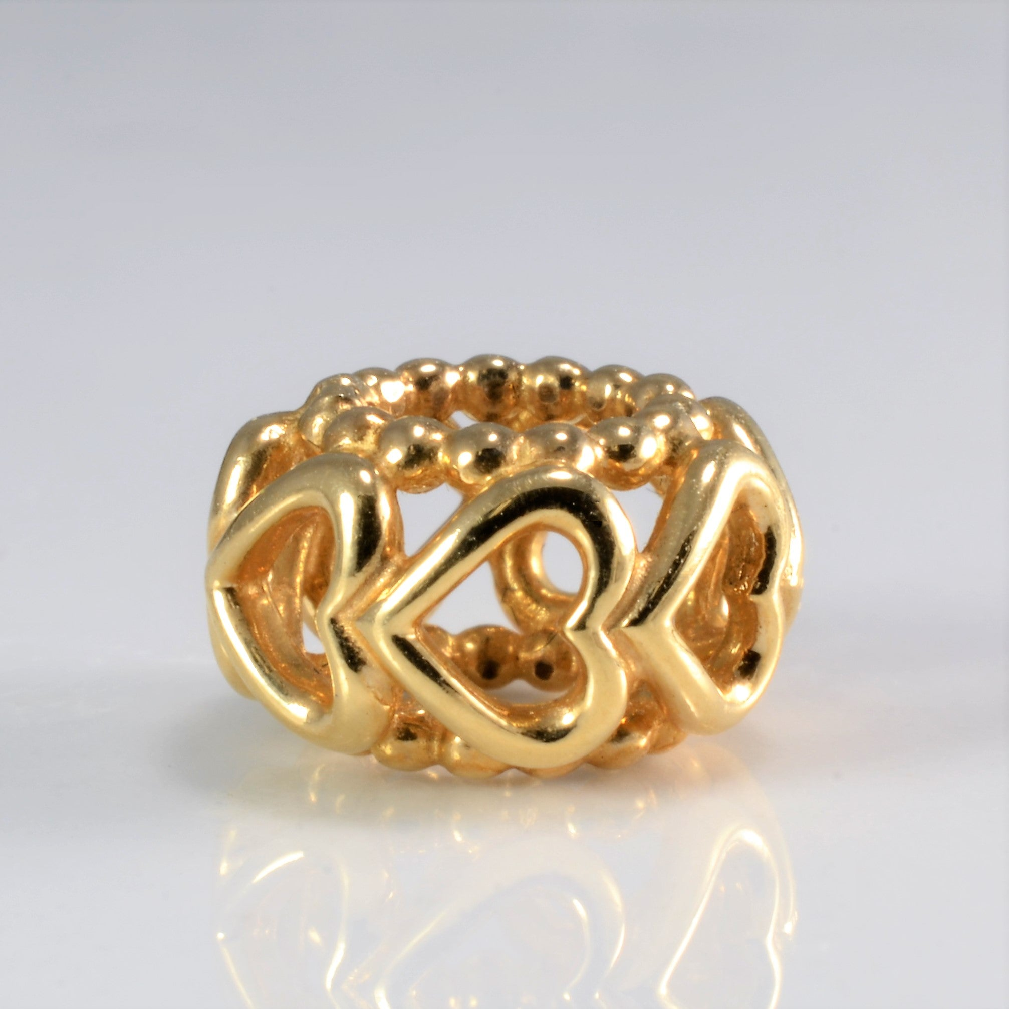 14K Gold Pandora Multi Heart Fancy Charm