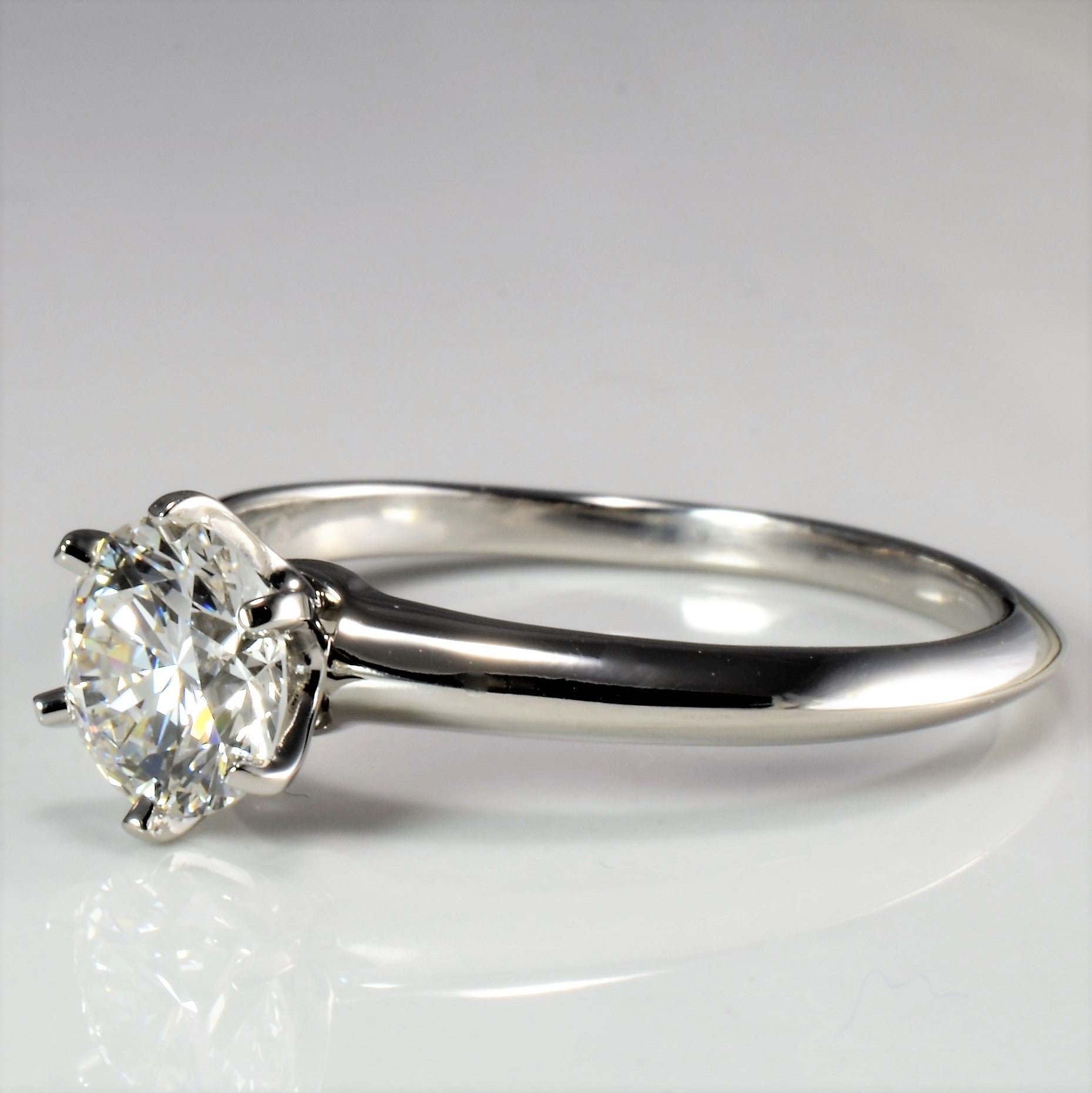 Tiffany & Co. Six Prong Solitaire Diamond Engagement Ring | 1.51 ct, SZ 10.5 |