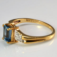 Prong Set Topaz & Diamond Ring | SZ 8.5 |
