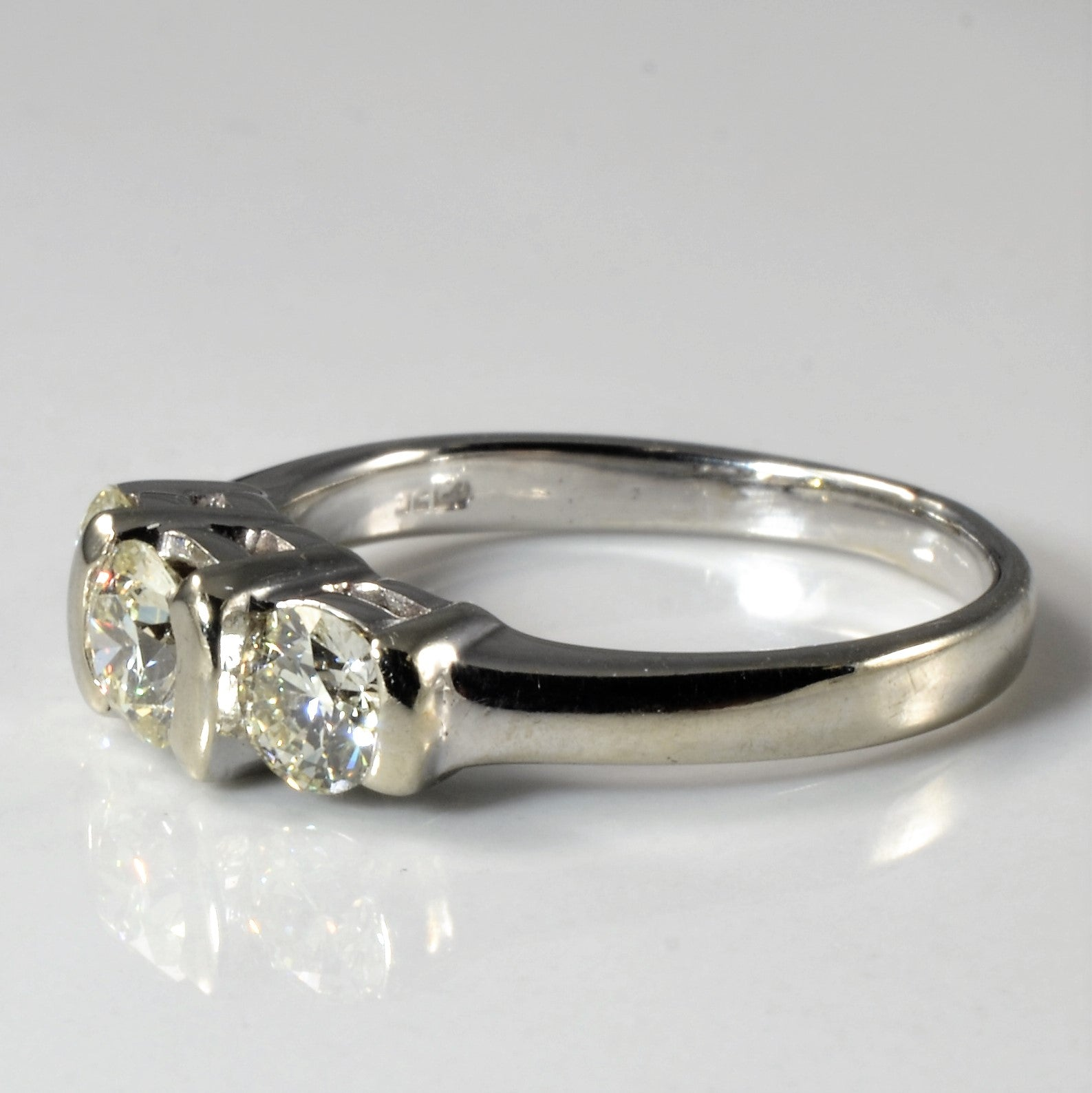Three Stone Tension Set Engagement Ring | 1.00ctw | SZ 6.75 |