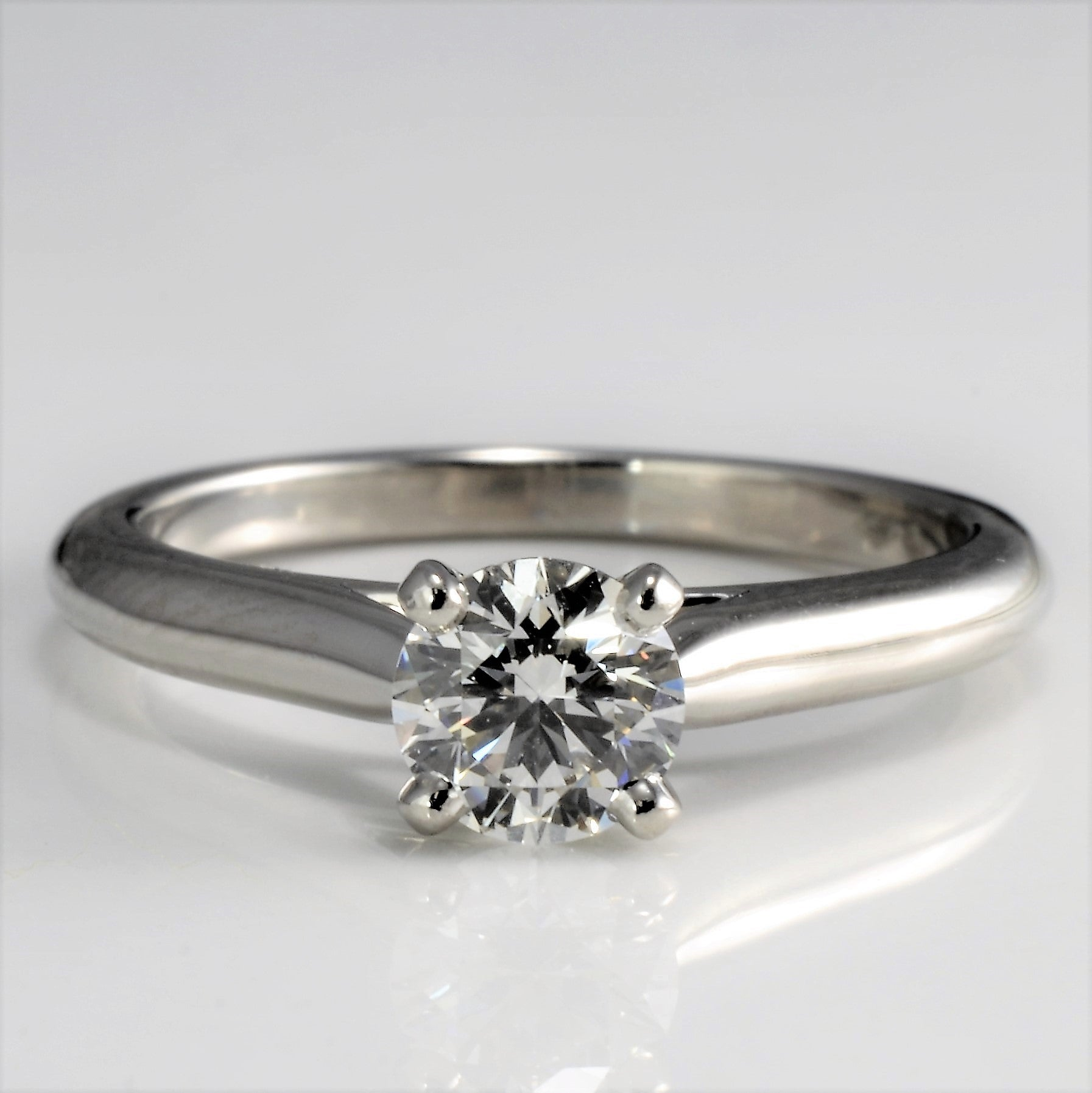 """Cartier"" Four Prong Solitaire Diamond Ring 