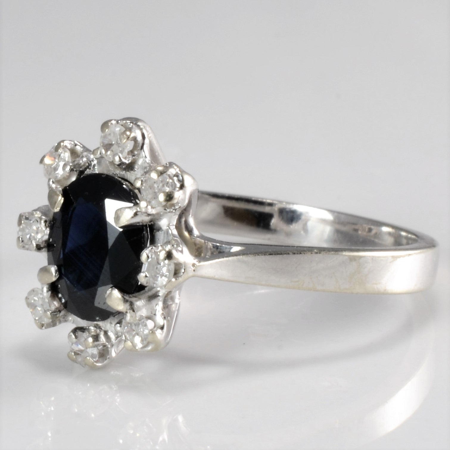 sapphire gold natural cocktail p certified ring rings solid diamond vintage