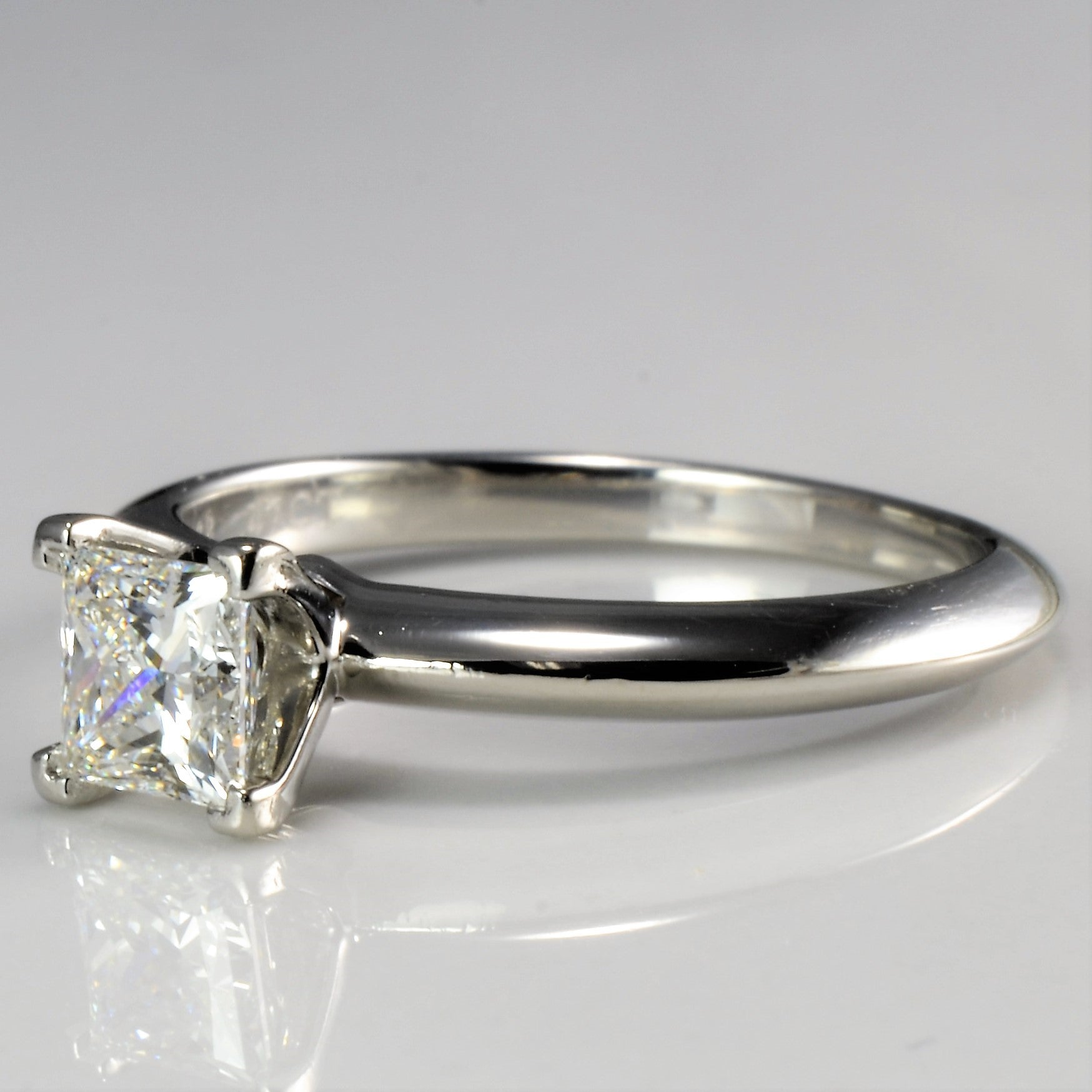 """Tiffany & Co."" Solitaire Princess Diamond Ring 