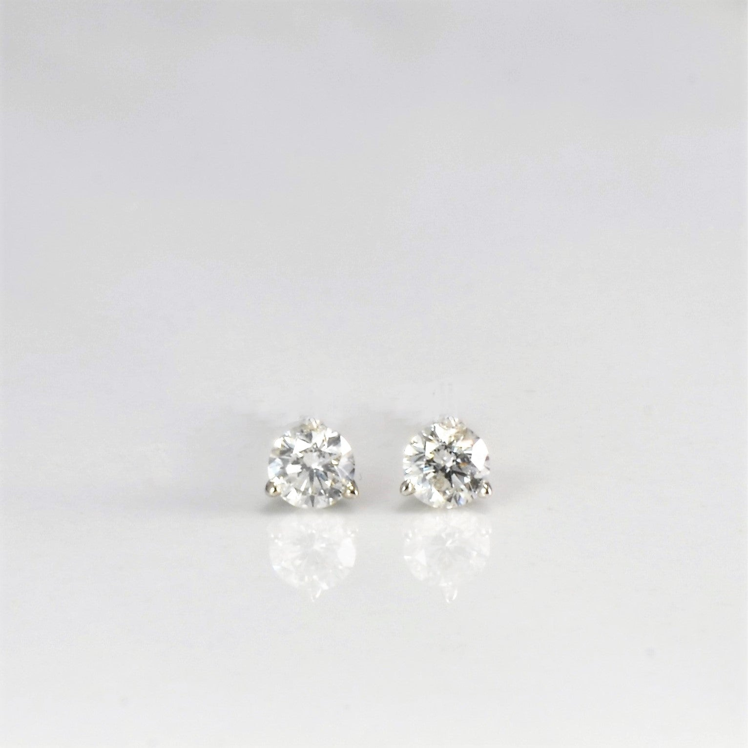 Martini Set Thread Back Diamond Studs | 0.12 ctw |