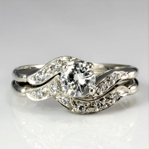 Bypass Diamond Engagement Ring Set | 0.52 ctw, SZ 8 |