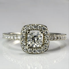 Halo Diamond Engagement Ring | 0.91 ctw, SZ 8.5 |