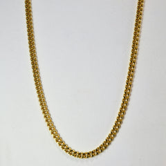 Curb Link Yellow Gold Chain | 20''|