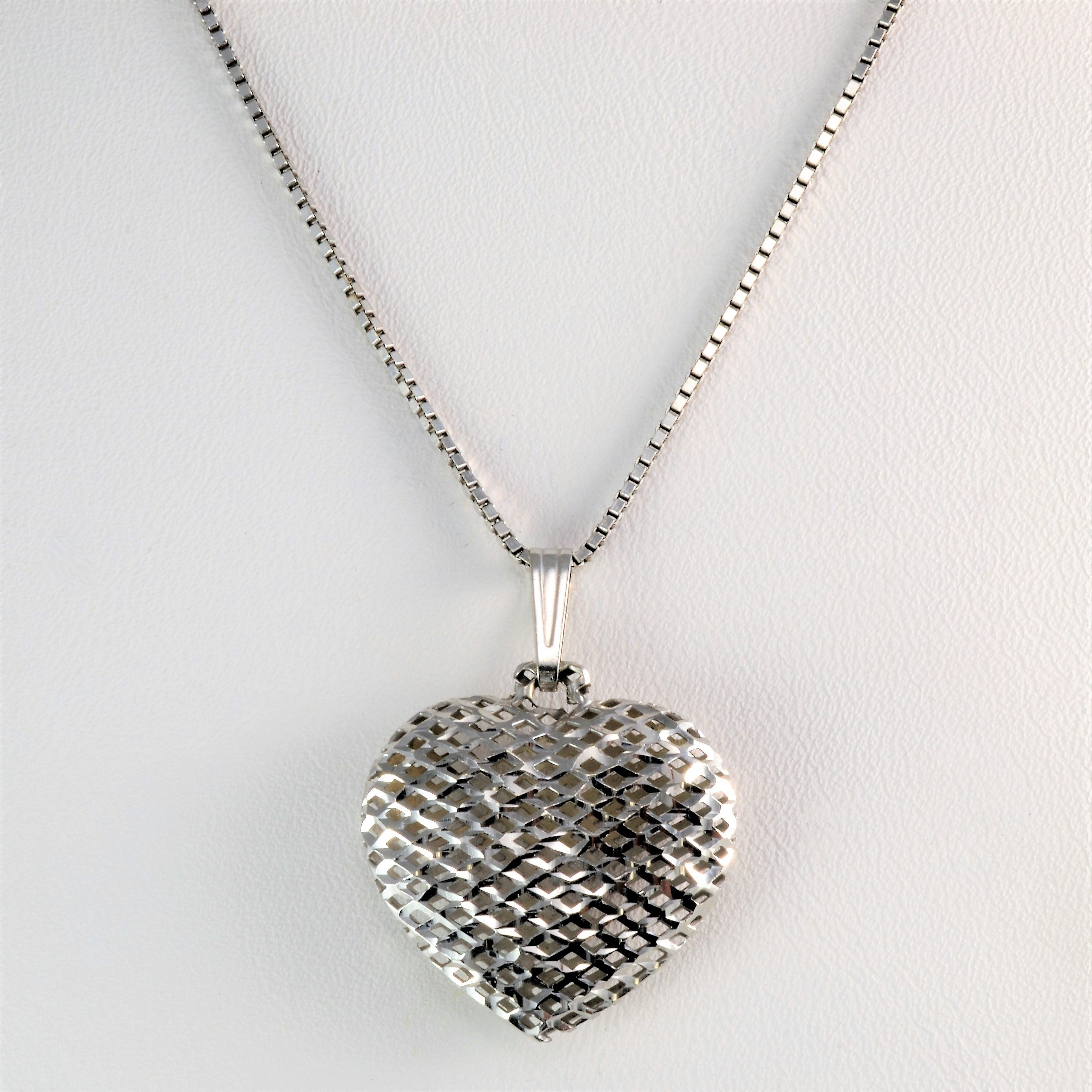 Woven puffed heart pendant necklace 17 100 ways woven puffed heart pendant necklace 17 mozeypictures Choice Image