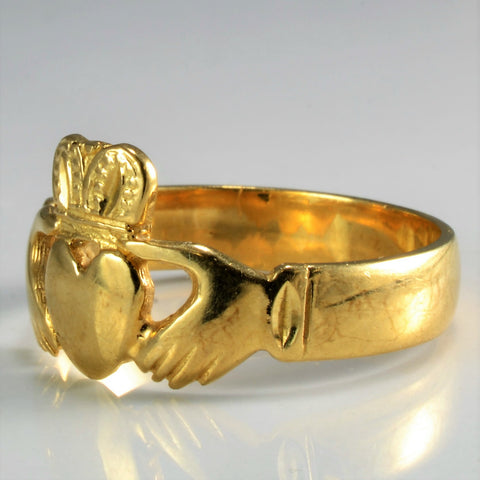 10K Gold Vintage Claddagh Ring | SZ 10.75 |