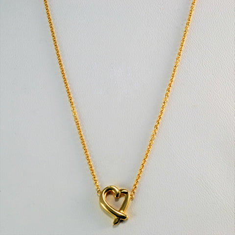 """Tiffany & Co."" Loving Heart Pendant 
