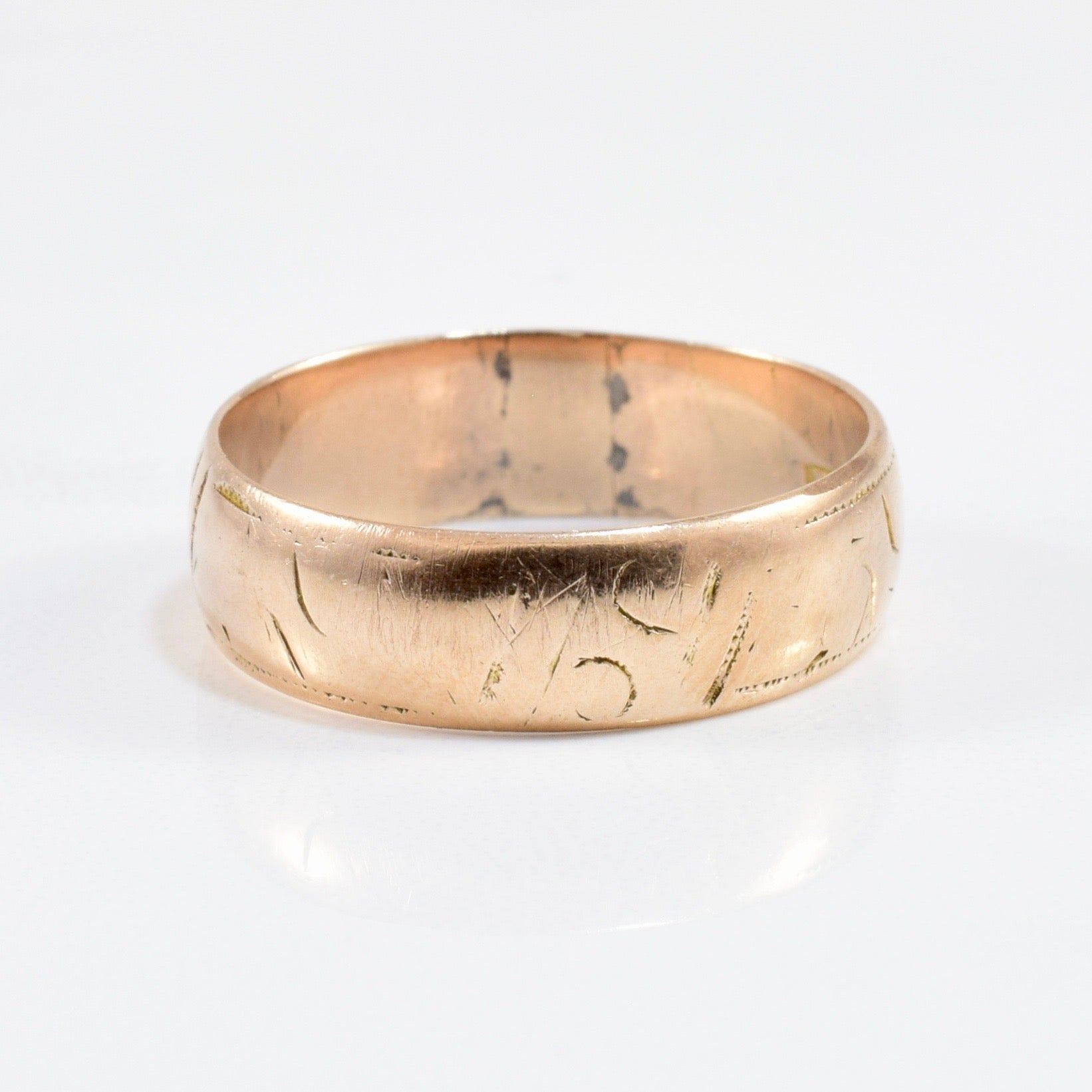 1880s Victorian Gold Band | SZ 8 |