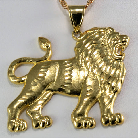 Unique Lion Pendant Necklace | 24''|