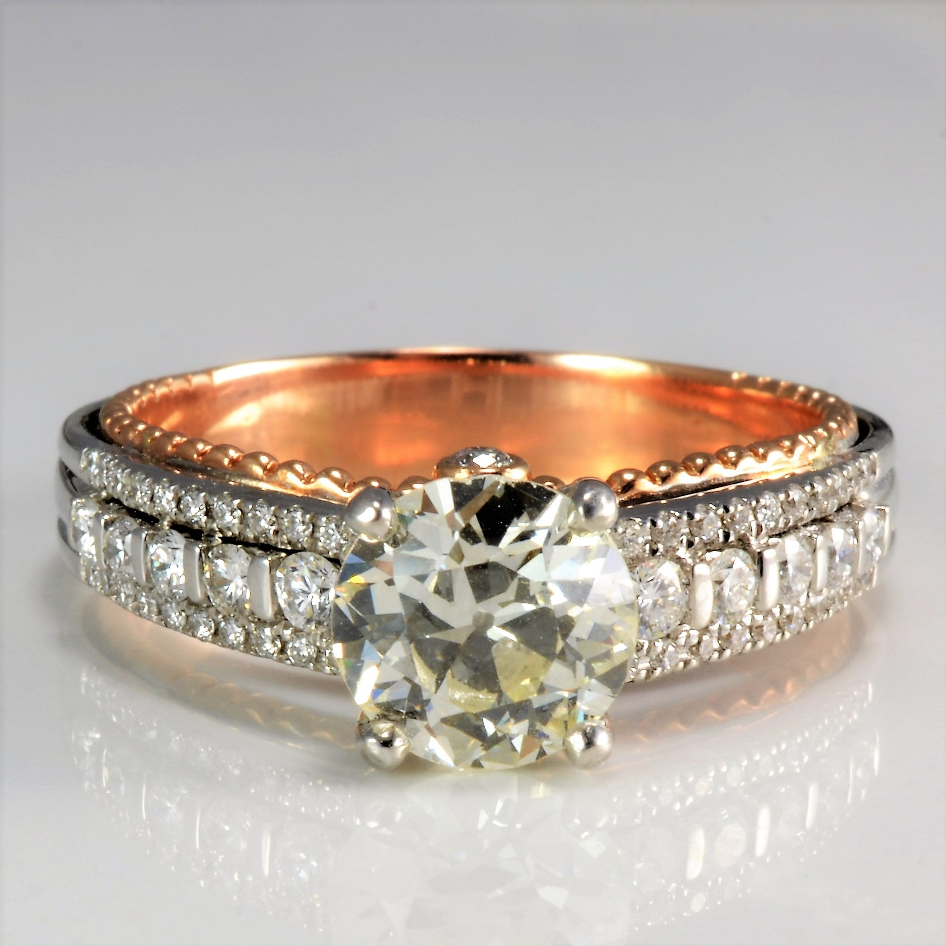 Beautiful Cathedral Set Diamond Engagement Ring | 2.32 ctw, SZ 10 |