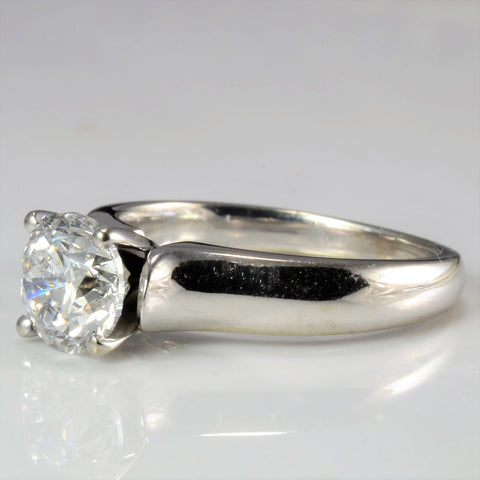 Tapered Solitaire Diamond Engagement Ring | 1.41 ct, SZ 5.75 |