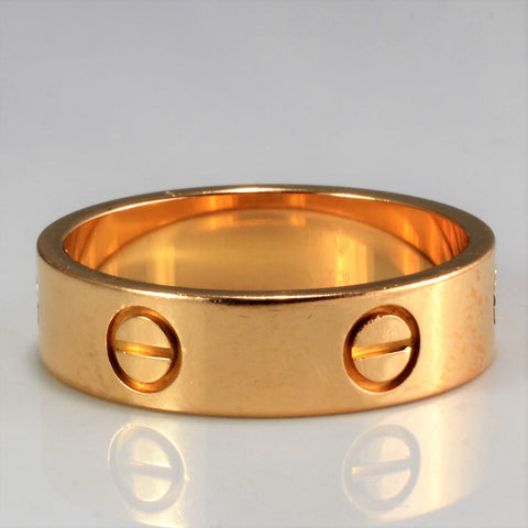 """Cartier"" Rose Gold Love Band 