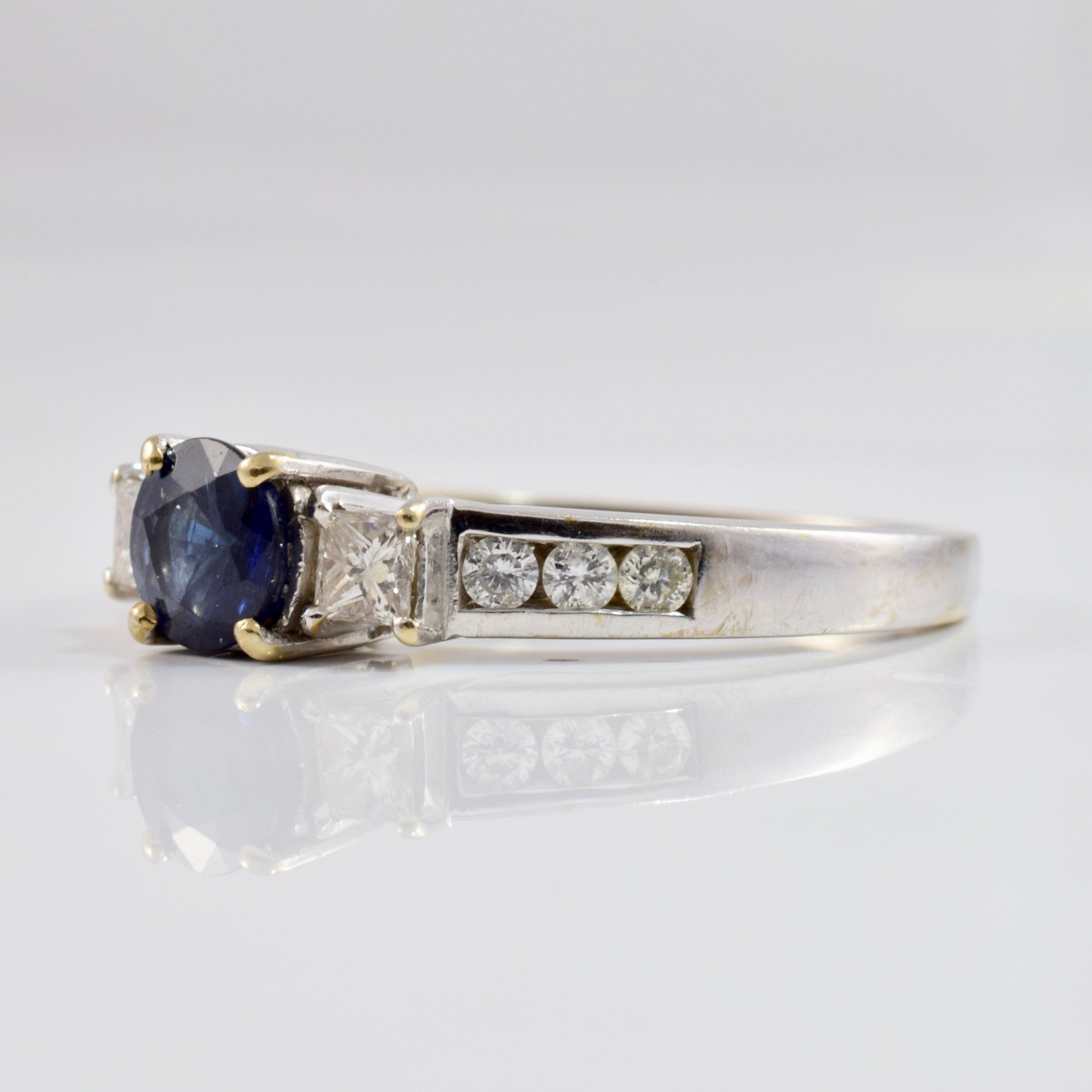 Sapphire and Diamond Engagement Ring | 0.46 ctw SZ 7.25 |