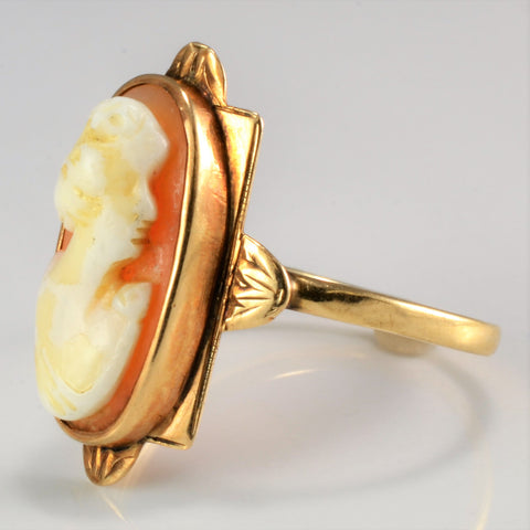 10K Gold Vintage Cameo Ring | SZ 6.5 |