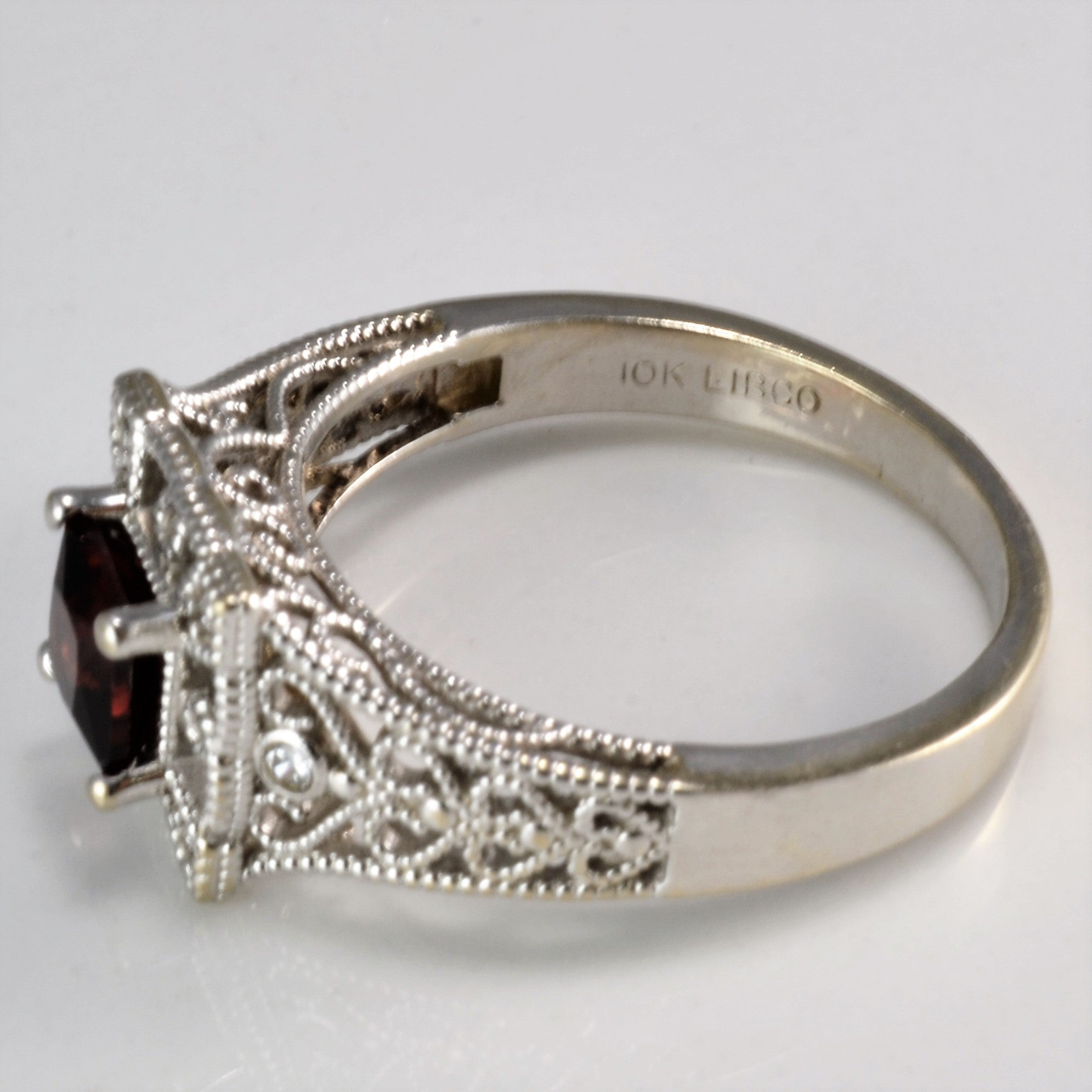 diamond rings stacking pyrite pave collections garnet bezels and