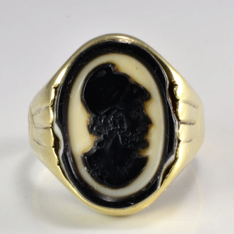 14K Gold Cameo Shell Ring | SZ 6.25 |