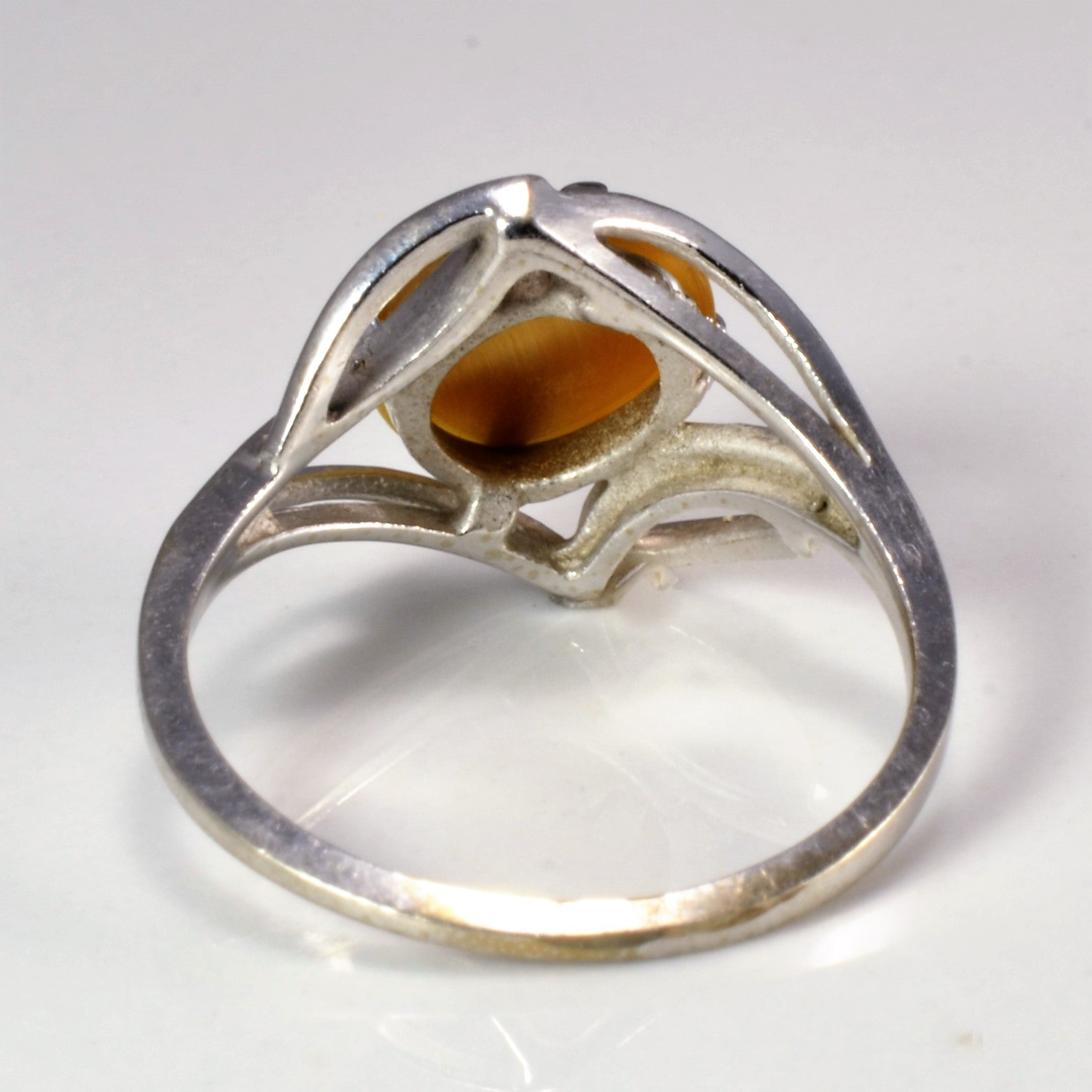 Prong Set Solitaire Tigers Eye Ring | SZ 6 |