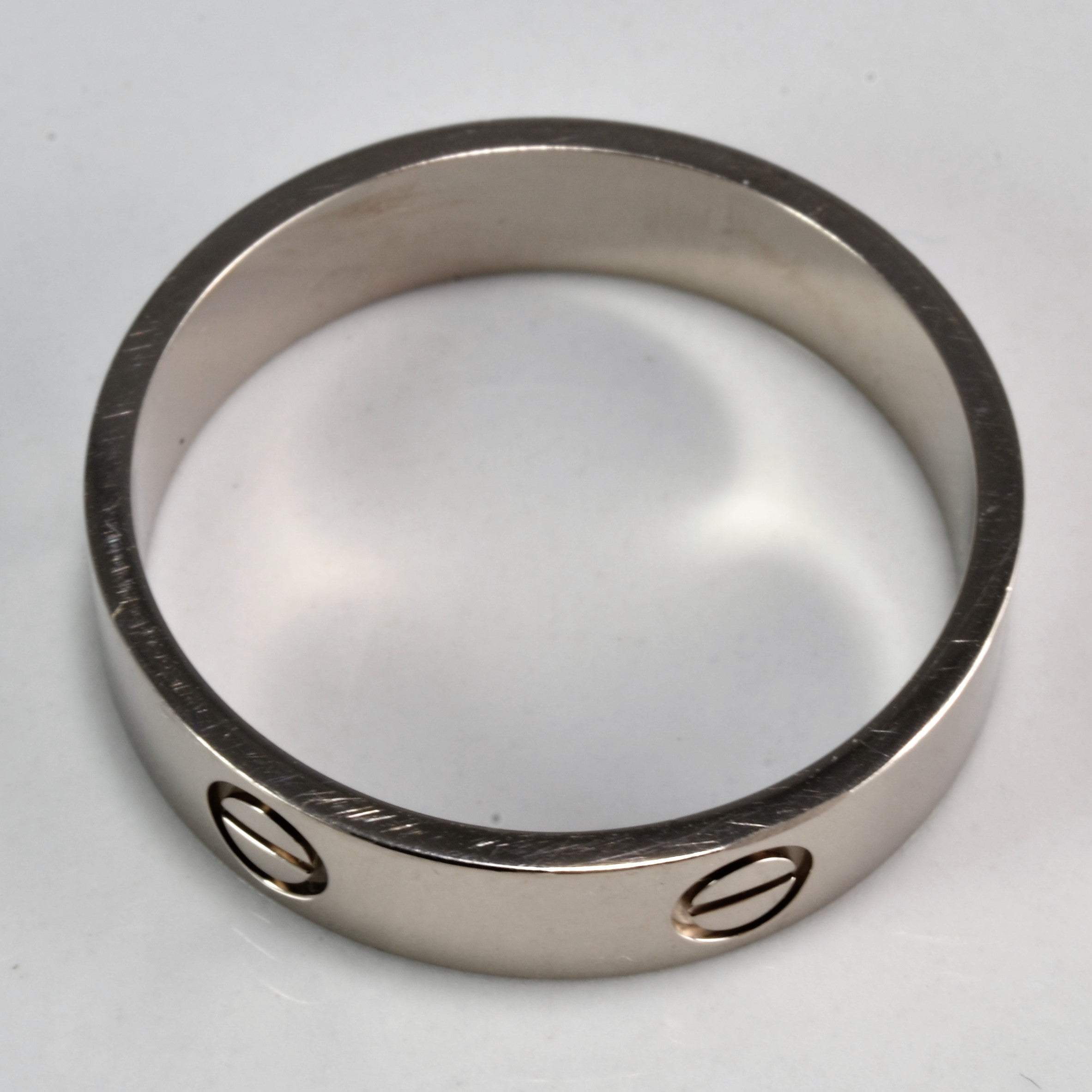 'Cartier'  White Gold Love Band | SZ 13 |