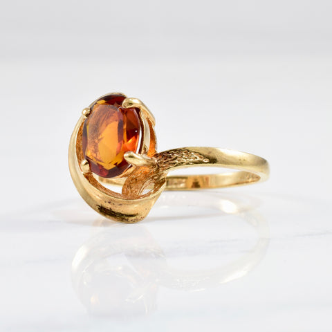 1970's Abstract Citrine Ring | SZ 7.25 |