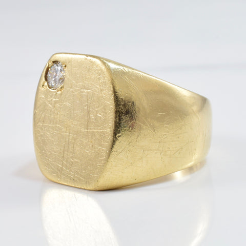 Diamond Signet Ring | 0.15 ctw SZ 7.5 |