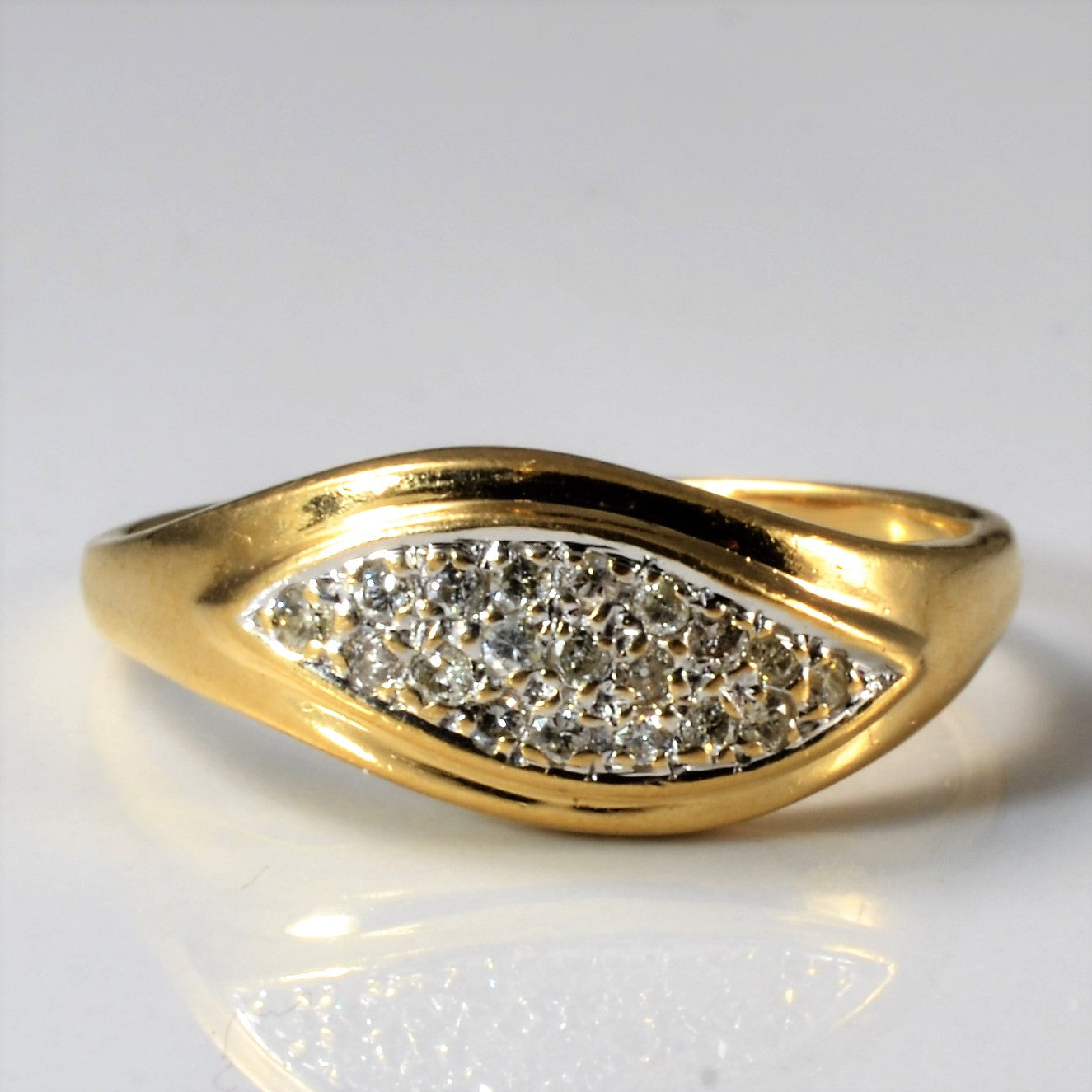 Unisex Pave Diamond Wave Band | 0.20 ctw, SZ 9 |