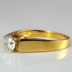 Tapered Solitaire Diamond Ring | 0.48 ct, SZ 6 |