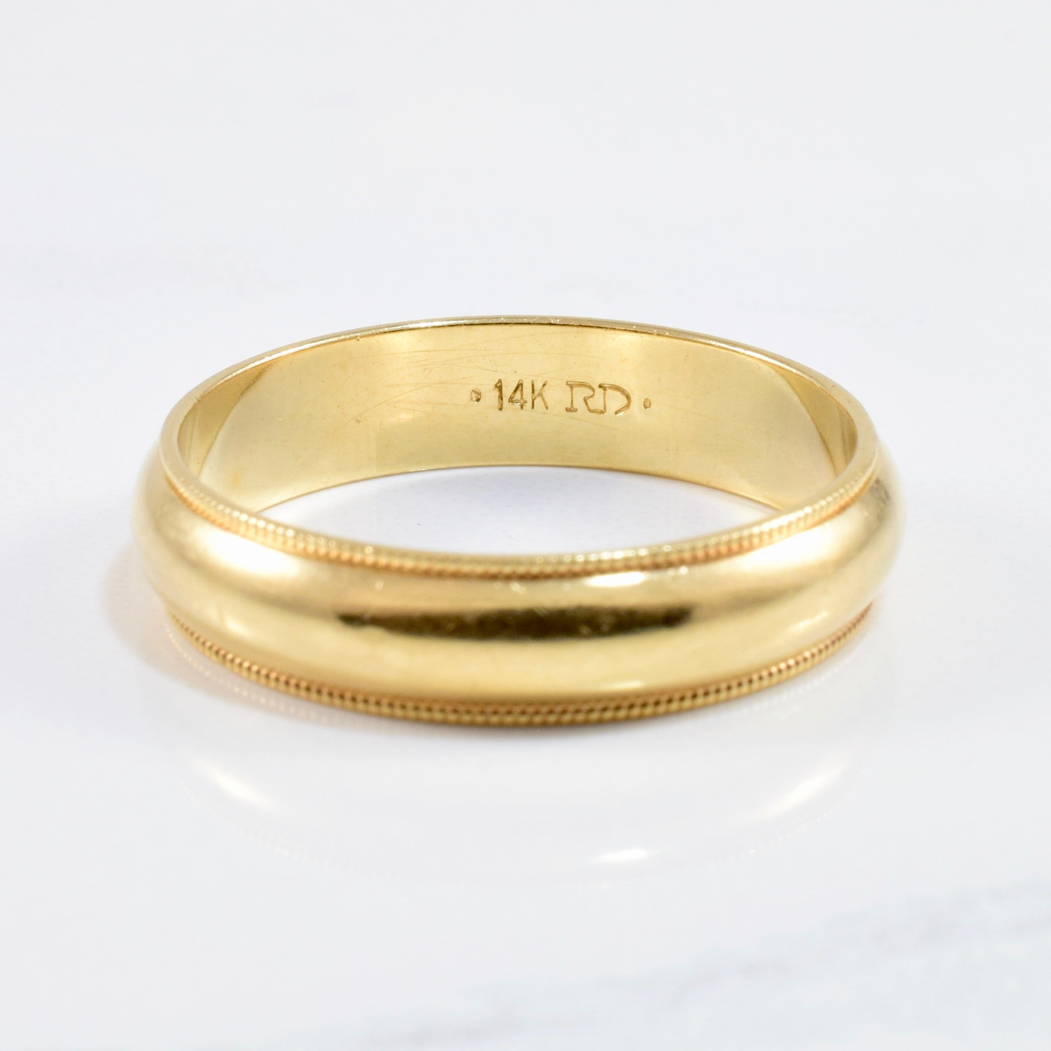 Milgrain Wedding Band | SZ 10.5 |