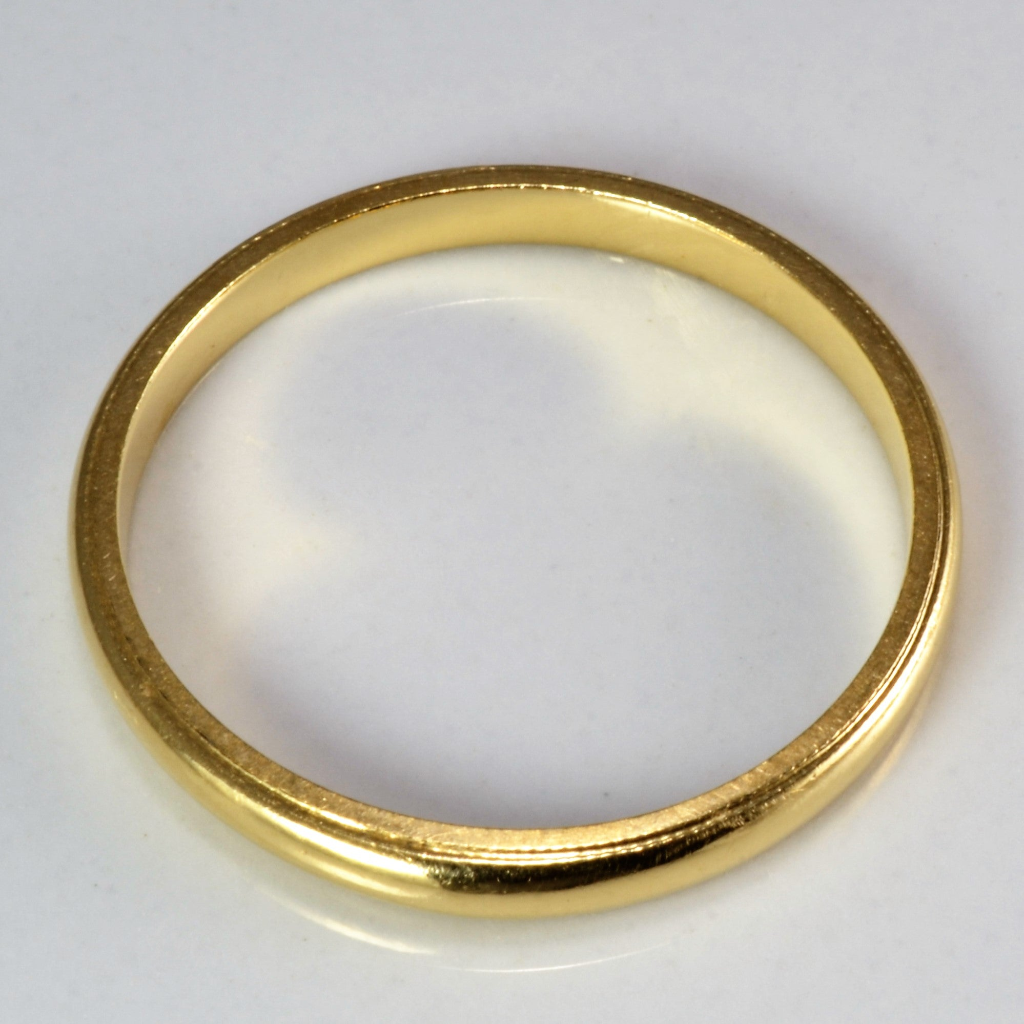 Yellow Gold Plain Ladies Wedding Band | SZ 7.5 |