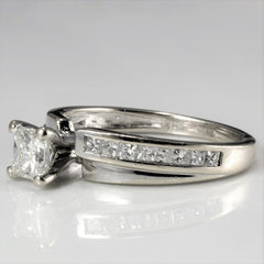 Solitaire with Accents Diamond Engagement Ring | 0.76 ctw, SZ 6.25 |
