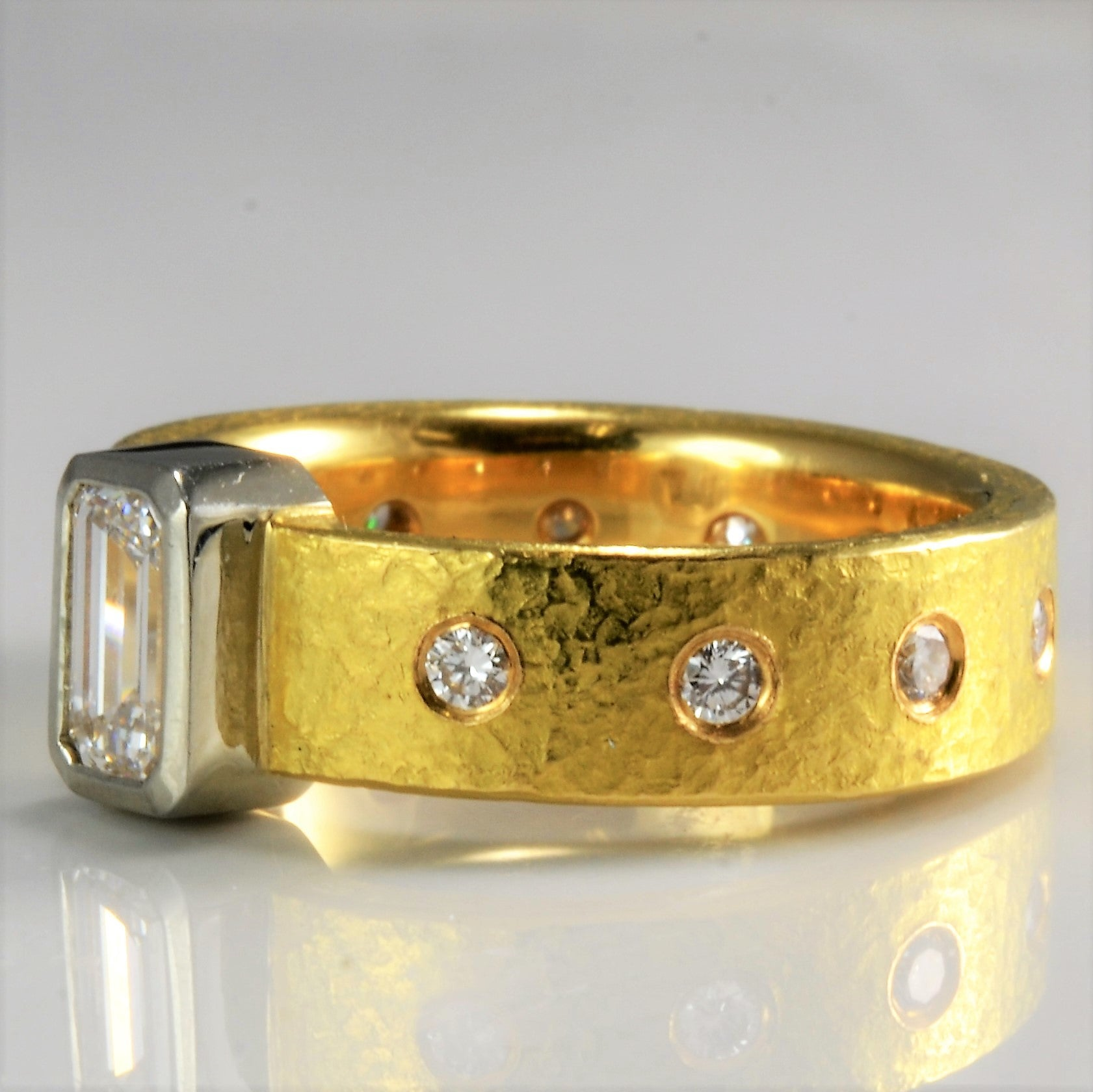 Custom Made Bezel Set & Gypsy Diamond Solid Band | 0.95 ctw, SZ 5.5 |