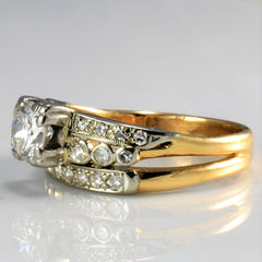 Retro Era Soldered Diamond Wedding Set | 0.97 ctw, SZ 5.75 |