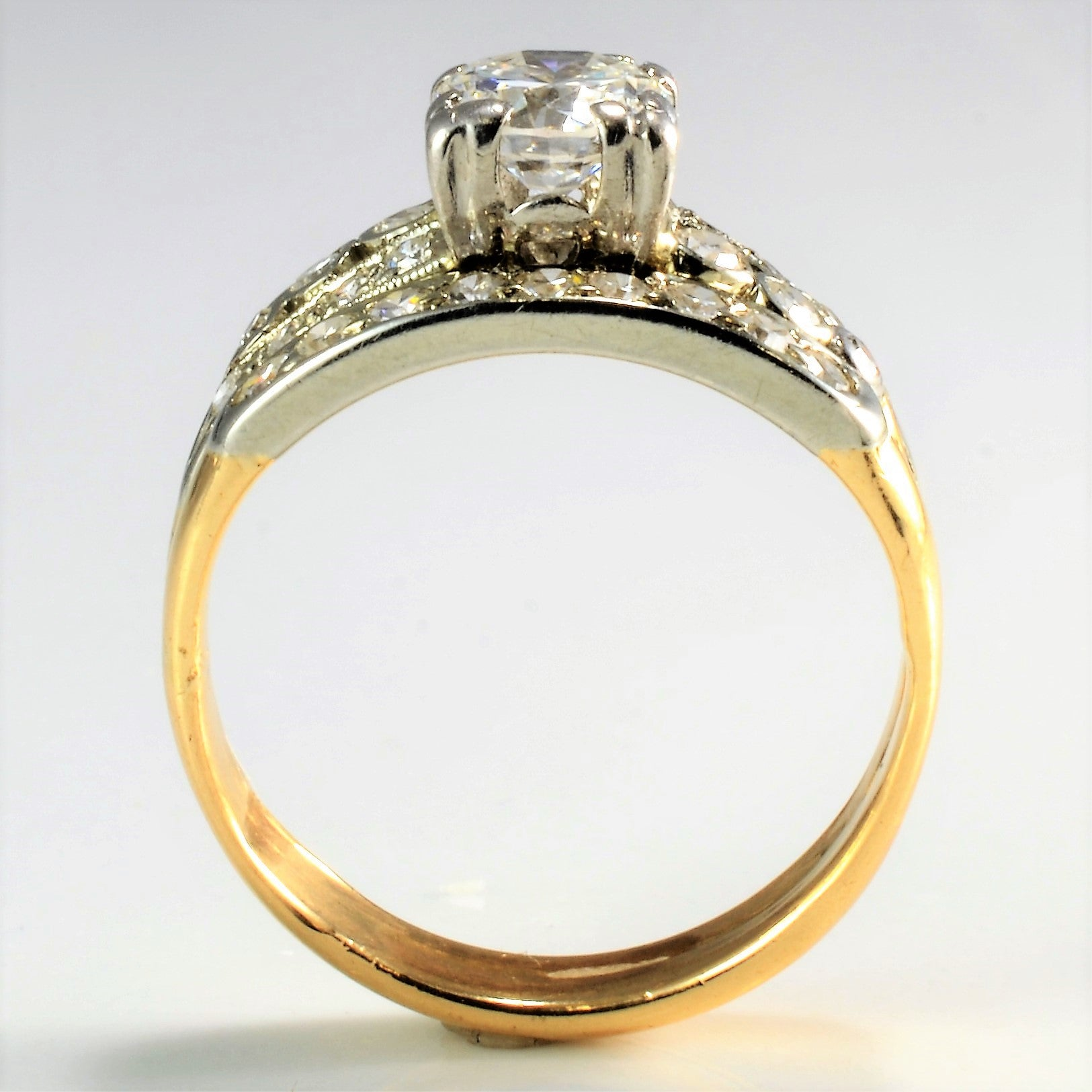 Vintage Diamond Soldered Wedding Set | 0.97 ctw, SZ 5.75 |