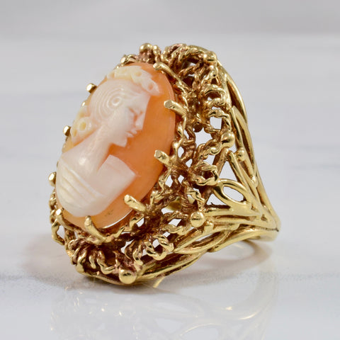 Large Cameo Ring | SZ 7 |