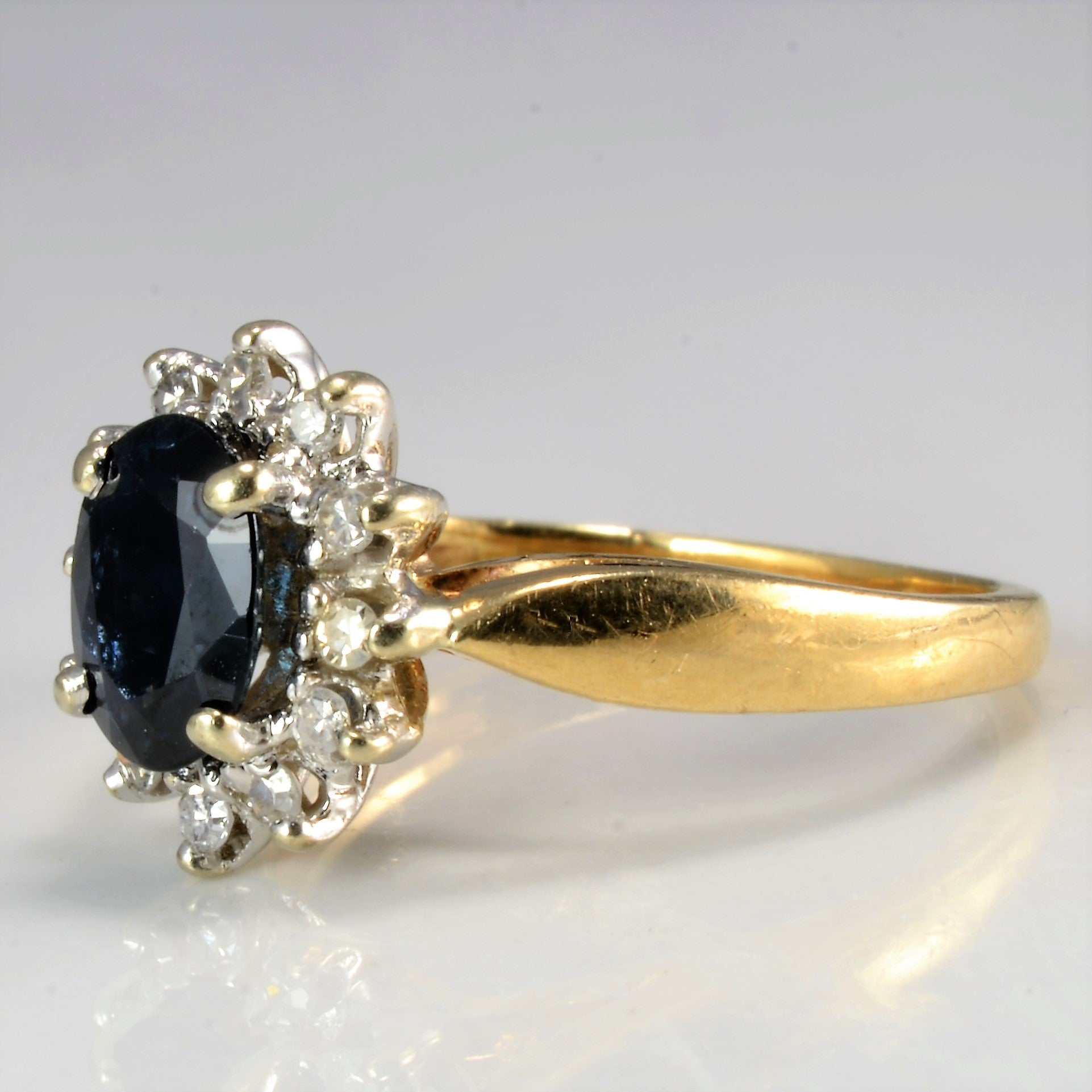 Sapphire & Diamond Ladies Cocktail Ring | 0.13 ctw, SZ 4.5 |