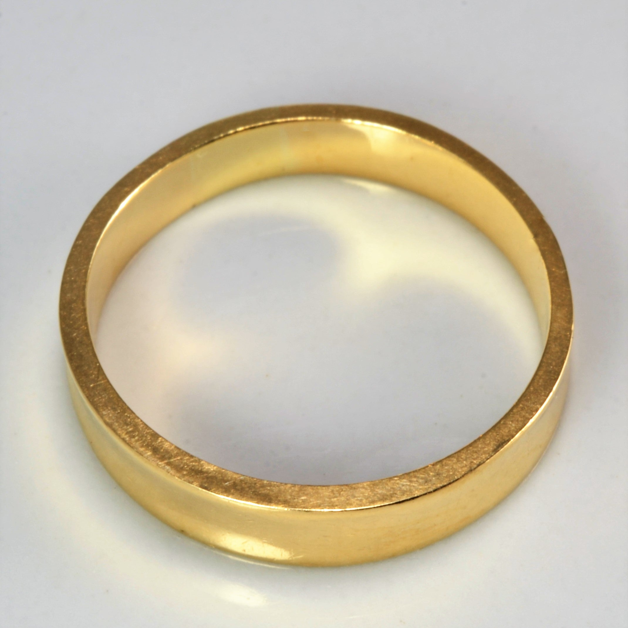 Yellow Gold Plain Wedding Band | SZ 7 |