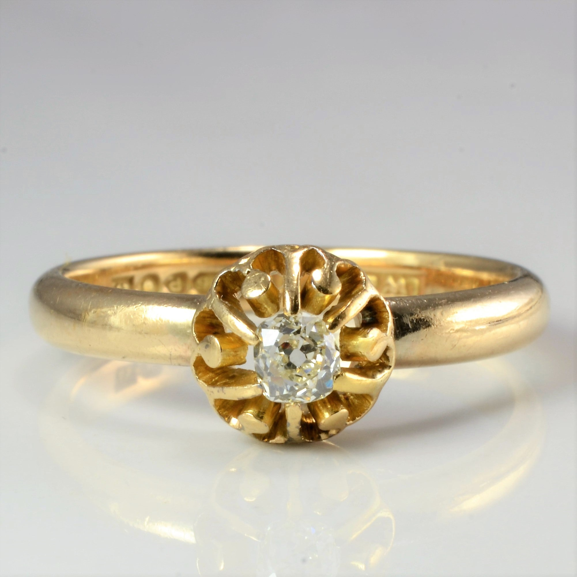 Claw Set Solitaire Diamond Vintage Ring | 0.32 ct, SZ 9.25 |