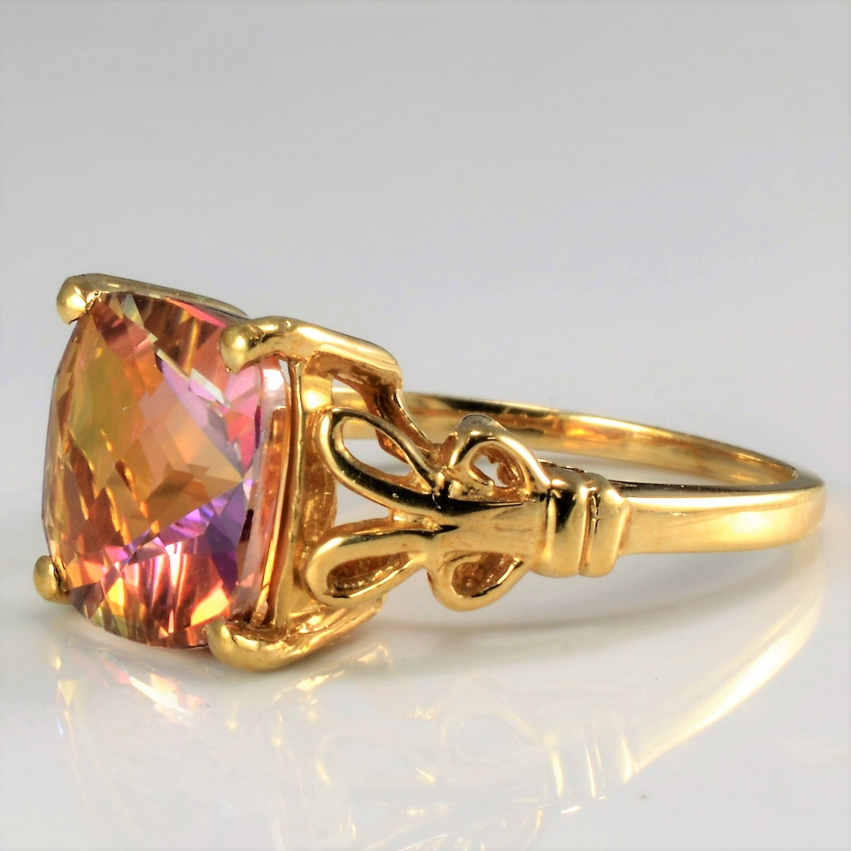 Solitaire Mystic Topaz Ring | SZ 6.75 |