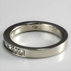 19K Gold Semi Eternity Diamond Band | 0.28 ctw, SZ 5 |