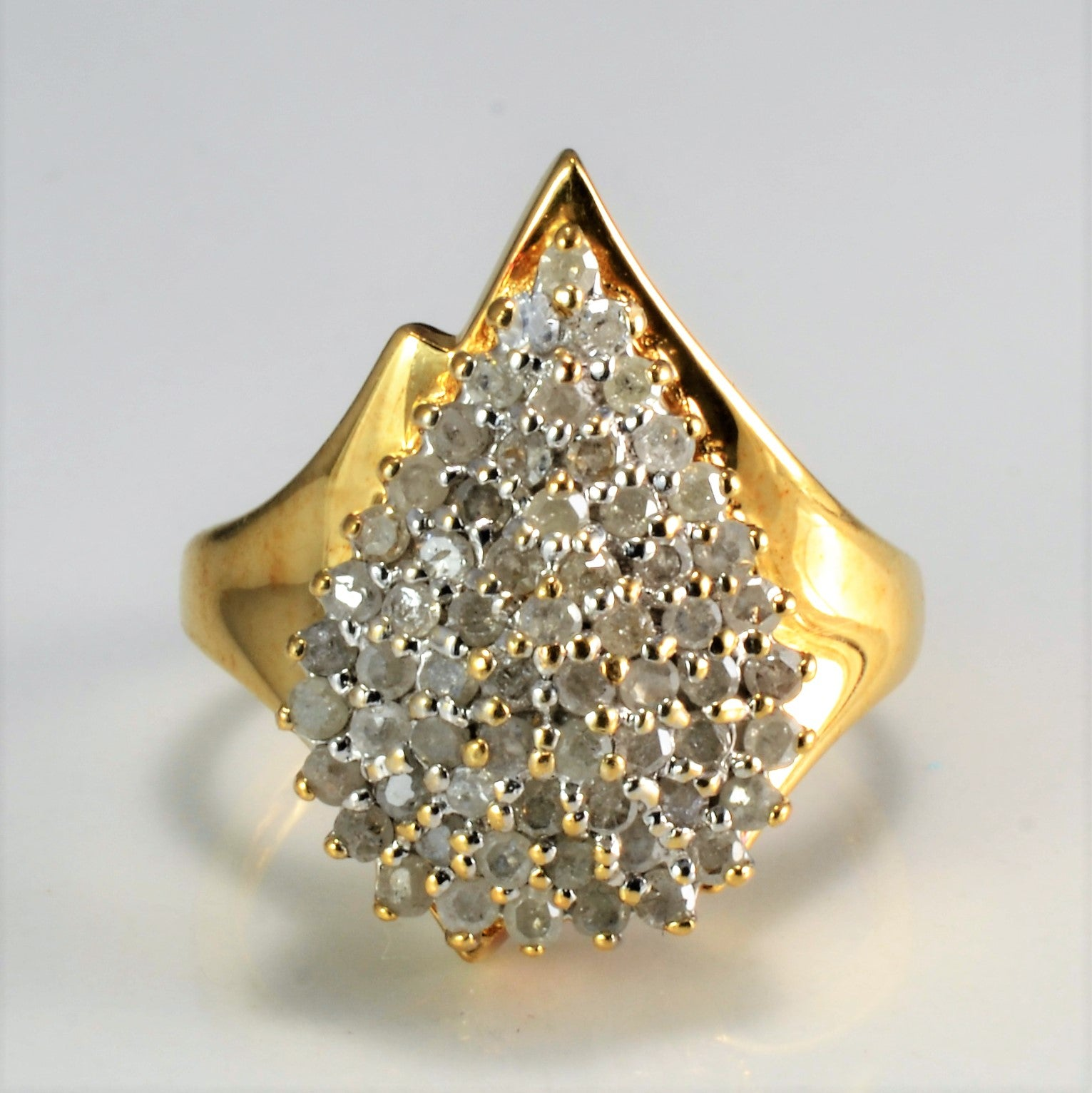 Cluster Diamond Ladies Ring | 0.62 ctw, SZ 7 |